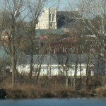 View from across the river at Foundation Park (telescopic)